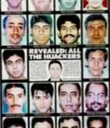 A newspaper front page announcing the release of the hijacker photos.